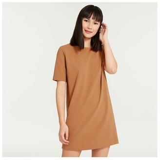 Joe Fresh Women's Relaxed-Fit Crepe Dress, Navy (Size L)