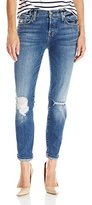 7 For All Mankind Women's Josefina Boyfriend Jean with Rolled Hem in Authentic Medium Blue Dust