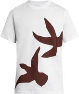 Oamc Dove-appliqué cotton-jersey T-shirt