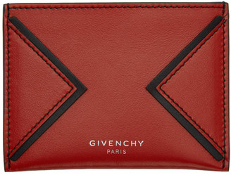 Givenchy Red V Shape Cut Card Holder