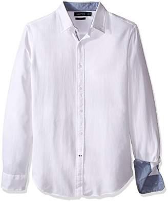 Nautica Men's Stripe Slim Fit Casual Shirt