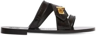 Givenchy 10mm Eden Croc Embossed Sandals