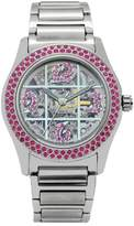 Gallucci Women's WT22029SK/SSB(B)-PI Swarovski Crystals Automatic Stainless Steel Watch with Steel Band