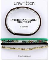 Unwritten Interchangeable Hair-Tie Cuff Bracelet in Stainless Steel