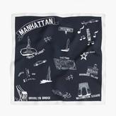 "J.Crew Destination Italian silk scarf in ""Manhattan"" print"
