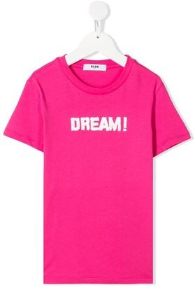 Msgm Kids 'Dream' print T-shirt