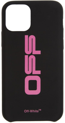 Off-White Black and Pink Wavy Logo iPhone 11 Pro Case
