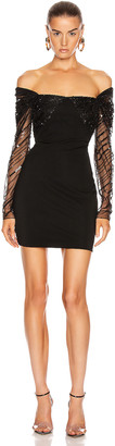 Cushnie Off the Shoulder Mini Dress in Black | FWRD