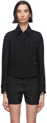 Ann Demeulemeester Black Wool Lightlaine Jacket