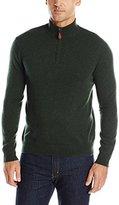 Williams Cashmere Men's 100% Solid Quarter Zip Sweater