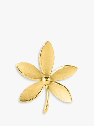 Susan Caplan Vintage Trifari Gold Plated Flower Brooch, Gold