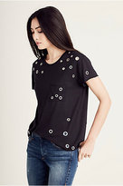 True Religion Eyelet Boyfriend Womens Tee