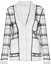 Acne Studios Woody Frosted Checked Crepe Blazer