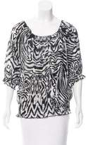 Adam Printed Scoop Neck Top