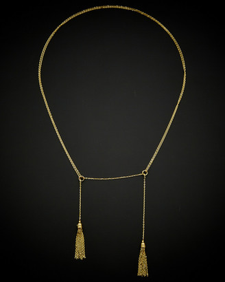 Italian Gold 14K Adjustable Lariat Necklace