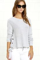 LuLu*s Laced in Love Grey Sweater
