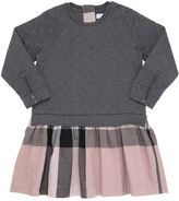 Burberry Quilted Cotton & Check Gabardine Dress