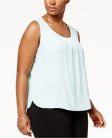 Anne Klein Plus Size Pleated Tank Top