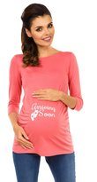 Zeta Ville Fashion Zeta Ville - Womens Maternity Pregnancy Shirt Top Arriving Soon print - 465c