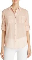 Calvin Klein Roll Sleeve Button-Down Shirt