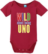 Sod Uniforms Wild About Being Uno Funny Bodysuit Baby Romper