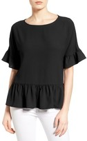 Gibson Women's Ruffle Hem Top