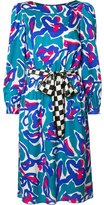 Marc Jacobs squiggle jacquard midi dress - women - Silk - 6