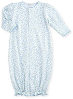 Kissy Kissy Spring Meadow Convertible Pima Sleep Gown, Blue/White, Size Newborn-Small