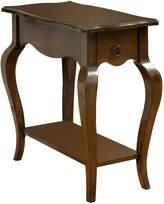Furniture of America Rosalie Curved 1-Drawer Side Table, Tobacco Oak