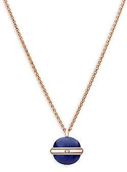 Piaget Women's Possession Diamond, Lapis Lazuli & 18K Rose Gold Pendant Necklace
