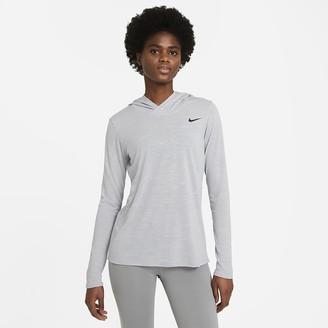 Nike Women's Long-Sleeve Hooded Training Top Legend