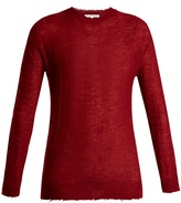 Helmut Lang Raw-edge loose-knit top