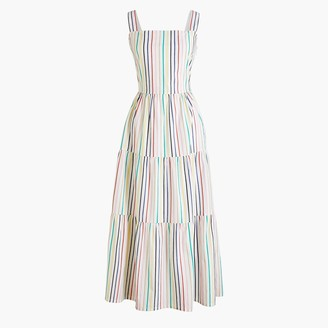 J.Crew Tiered maxi dress in cotton poplin