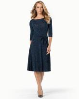 Soma Intimates Ilana 3/4 Sleeve Scoop Dress Illuminescent Blue