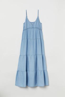 H&M Lyocell Maxi Dress - Blue