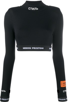 Heron Preston CTNMB long-sleeved crop top