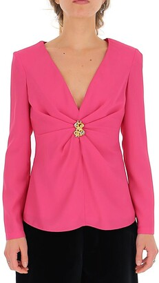Moschino Pendant Draped Blouse