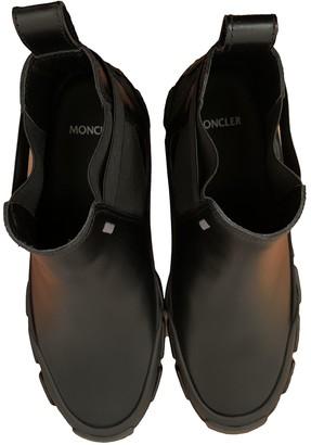 MONCLER GENIUS Black Leather Boots
