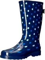 Western Chief Women Wide Calf Rain Boot, Blue, 7 W US
