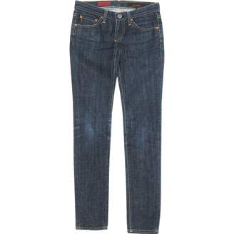 AG Adriano Goldschmied Blue Cotton Jeans