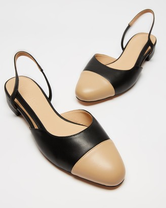 Atmos & Here Atmos&Here - Women's Black Ballet Flats - Monaco Leather Flats - Size 5 at The Iconic