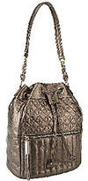 B. Makowsky As Is Quilted Leather Drawstring Hobo Bag
