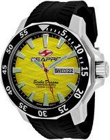 Seapro Scuba Dragon Diver Mens Yellow Dial Black Silicone Strap Watch
