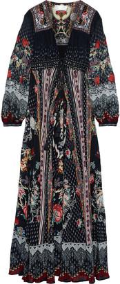 Camilla Haute Provincial Embellished Printed Silk-chiffon Maxi Dress