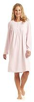Miss Elaine Microfleece Short Gown - Pink
