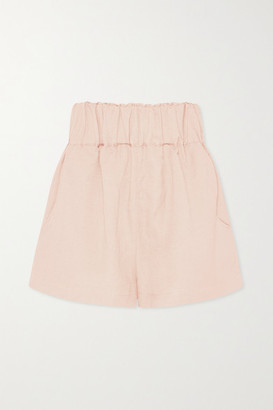 BONDI BORN Net Sustain Universal Linen-blend Shorts - Blush