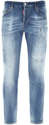 DSQUARED2 Distressed Slim Jeans