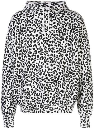 Noon Goons Leopard Print Oversized Hoodie