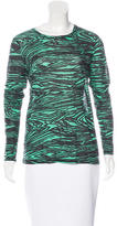 Proenza Schouler Abstract Print Long Sleeve Top