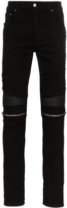 Amiri MX2 zip-detail panelled jeans